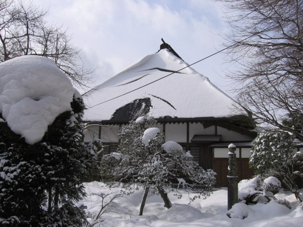 Snowy Temple Building 2